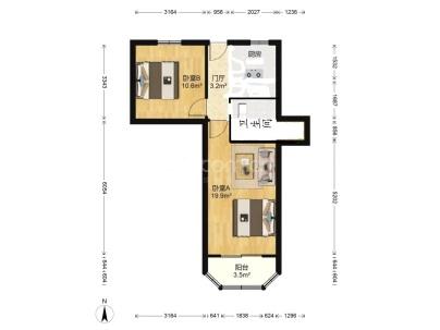 延武机电大楼 2室 1厅 62.51平米